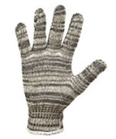 Gloves: RW-0205 Lightweight poly cotton multicolor liner string knit
