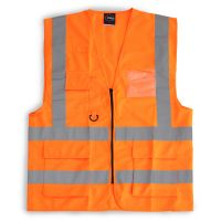 Hi Vis Clothing: 24/7-2200-Orange Premier Vest