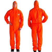 Disposable Clothing: 4515 Coverall, excellent barrier against dry particles & limited liquid splash, CE type 5/6