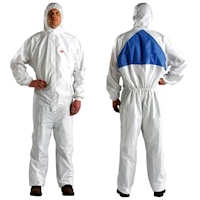 Disposable Clothing: 4540+ Coverall , barrier against dry particles and certain limited liquid chemical splash, CE Type 5/6