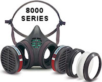 8000 The 8000 Series Reusable half mask