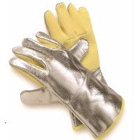 Thermal protection gloves - Hot: Aramid/Aluminium Coated Glove Contact heat upto 500<SUP>o</SUP>C