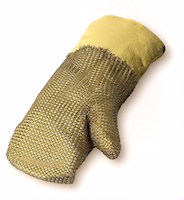 Thermal protection gloves - Hot: Aramid Chain Glove Contact heat upto 1100<SUP>o</SUP>C