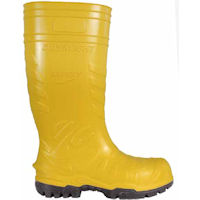 Electrical safety footwear: CFR-Electrical Safest Safest Yellow  SB E P FO CI SRC <br> Boots for Electricians.