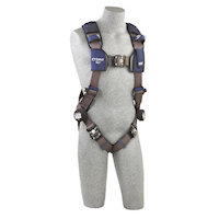 1113010 Vest Style Harness with aluminum Tech-Lite back D-Ring and Duo-Lok quick connect buckles