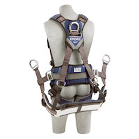 1113193 Tower Climbing Style Harness with aluminum front, back and side D-rings