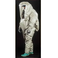 Disposable: Disposable Coverall Splash Contamination Suit A fully encapsulating Type 3 Coverall chemical splash contamination suit of one-piece construction