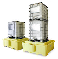 E5469-YE-D IBC 2000i Spill Containment Unit makes intermediate bulk containment easier