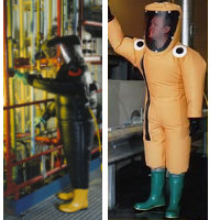 Re-Useable: GTA Type 1c/Level A non-emergency, long duration working Gas Tight Suit used in irrespirable atmospheres