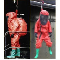Re-Useable: GTB Fall Arrest Version GTB Fall Arrest Version, Type 1A-ET gas-tight chemical protective suit is of one-piece