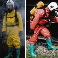 Re-Useable: GTIM Type 1b/Level A Gas Tight suit designed to be worn with external breathing apparatus.