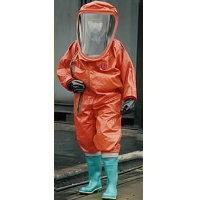 Re-Useable: GTVB A fully encapsulating Type 1a/Level A Gas Tight Suit covering the wearer and breathing apparatus