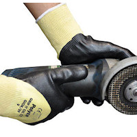 Grip It Oil C5 Seamless Knitted Kevlar® and Glass Fibre Liner with Full Nitrile Coating