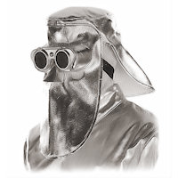 Contact & Radiation Heat Protection: Heat Protection Mask with Flip Glasses Radiation Heat upto 1000<SUP>o</SUP>C