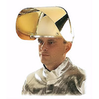Contact & Radiation Heat Protection: Facial Protection with Swing Frame Radiation Heat upto 1000<SUP>o</SUP>C