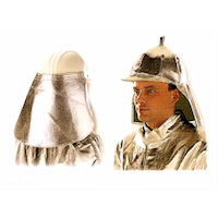 Contact & Radiation Heat Protection: Universal Helmet and Neck protection Radiation Heat upto 1000<SUP>o</SUP>C