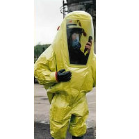 Limited Life: Limited Use Coverall Splash Contamination Suit A fully encapsulating Type 3 Coverall chemical splash contamination suit of one-piece construction
