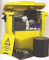 04-1755 Drop Front Bins - Chemical Spill Response Kit