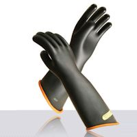 Electrical Protection Gloves: Novax - Contour cuff Rubber insulating gloves.
