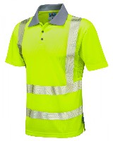LE-P03 Y WOOLACOMBE  ISO 20471 Class 2 Coolviz Plus Polo Shirt P03-Y