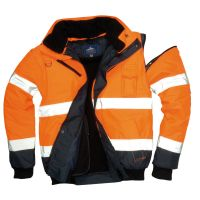 Hi Vis Clothing: PW-C465 Contrast Bomber Jacket