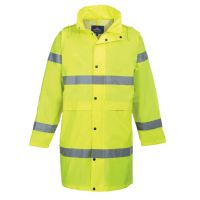 Hi Vis Clothing: PW-H442 Hi-Vis Rain Coat