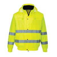 Hi Vis Clothing: PW-S161 Hi-Vis Bomber Jacket