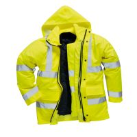 Hi Vis Clothing: PW-S468 Hi-Vis 4 in 1 Jacket