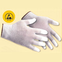 Antistatic / ESD Gloves: PW-A198 Antistatic PU Fingertip Glove