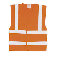 Hi Vis Clothing: PW-C470 Hi-Vis two Band Bib N Brace Vest