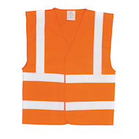 Hi Vis Clothing: PW-FR70 Hi-Vis Vest with FR Finish