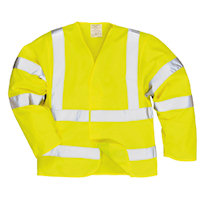Hi Vis Clothing: PW-FR73 Hi-Vis Jacket with FR Finish