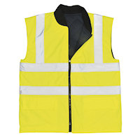 Hi Vis Clothing: PW-S469 EN 471 Reversible Bodywarmer