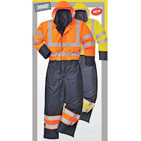 PW-S485 Contrast Coverall - Lined