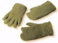 Thermal protection gloves - Hot: Preox-Aramid Fabric Glove Contact heat upto 650<SUP>o</SUP>C