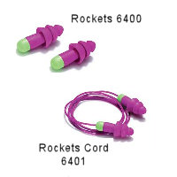 Rockets - 6400 Washable plugs made of soft and durable Kraton-material