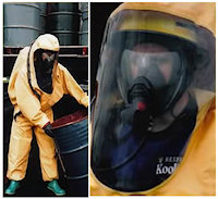Re-Useable: SC4 Reusable Coverall Splash Contamination Suit A fully encapsulating Type 3 Coverall chemical splash contamination suit of one-piece construction