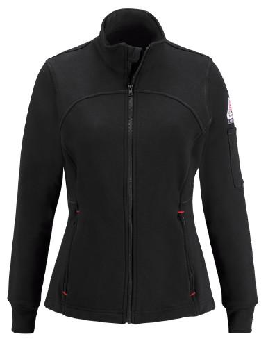 Fleece FR Zip-Up Jacket Bulwark® Protective Apparel offers flame-resistant protective garments