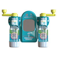 2401024 Small Emergency Eyewash Station with Semi-Automatic Opening of Bottles