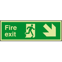 SKU1010 fire exit arrow diag right