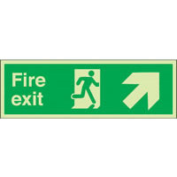 SKU1021 fire exit arrow diag up right