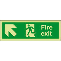 SKU1048 fire exit arrow up left