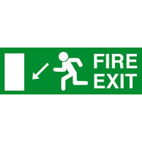 SKU238 fire exit diag down left