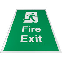 SKU370 fire exit floor sign