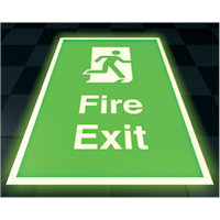 SKU373 floor fire exit - photoluminescent