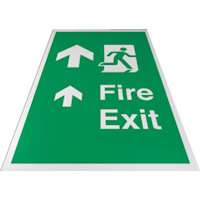 SKU386 fire exit floor signs