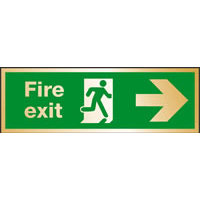 SKU485 fire exit arrow right