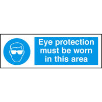 SKU699 eye protection must be worn in this area