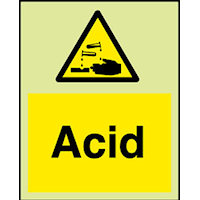 SKU927 acid safety sign