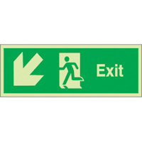SKU929 exit arrow down diag left